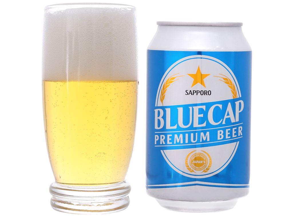 Thùng 24 lon bia Sapporo Blue Cap 330ml 6