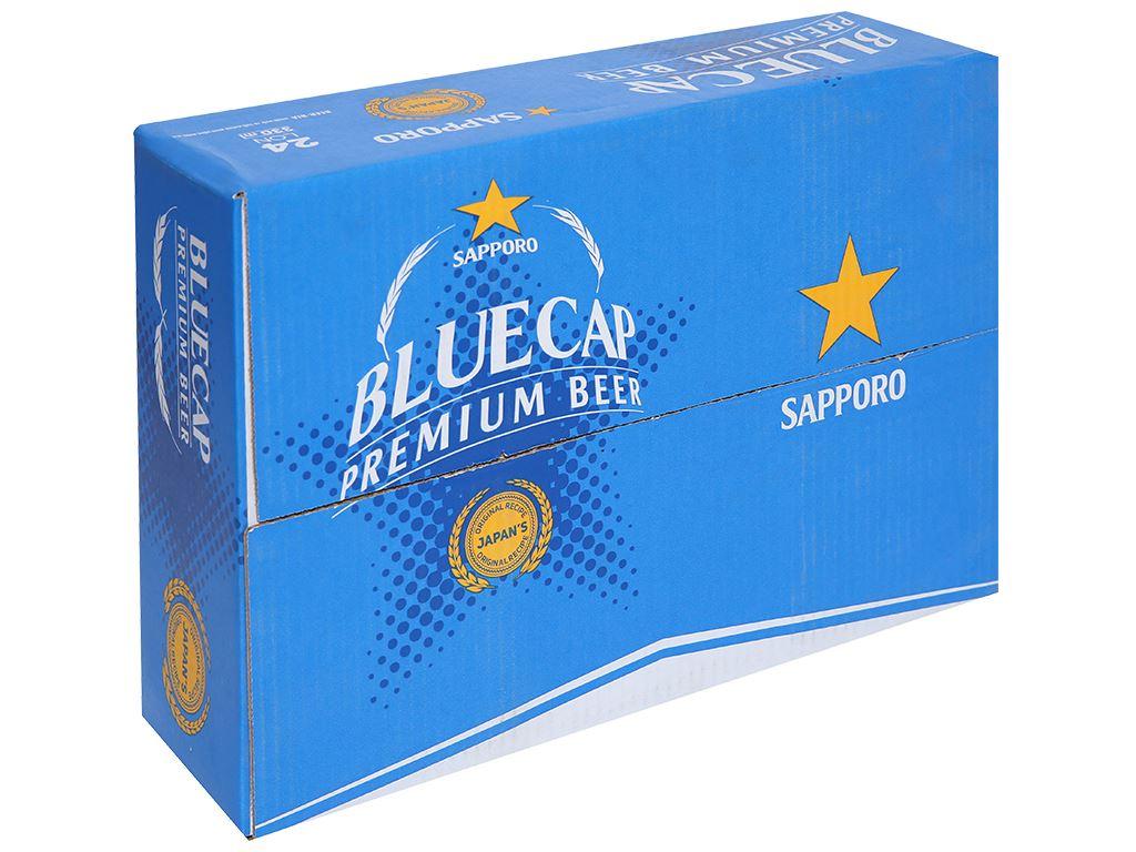 Thùng 24 lon bia Sapporo Blue Cap 330ml 1