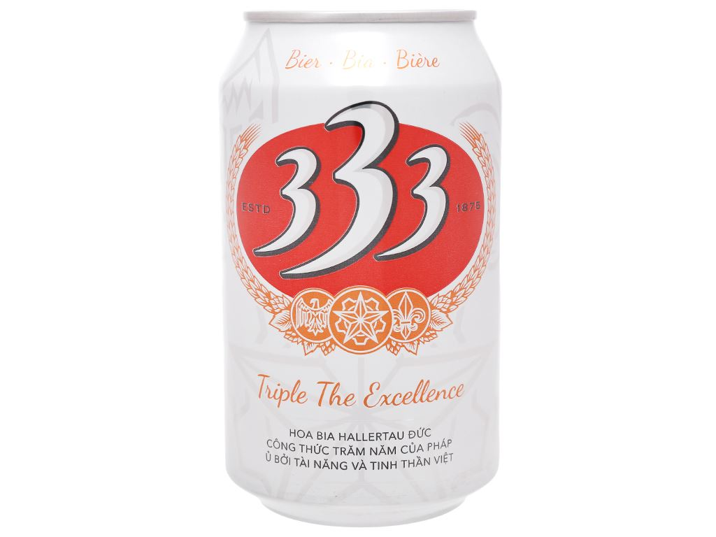 Thùng 24 lon bia 333 330ml 3