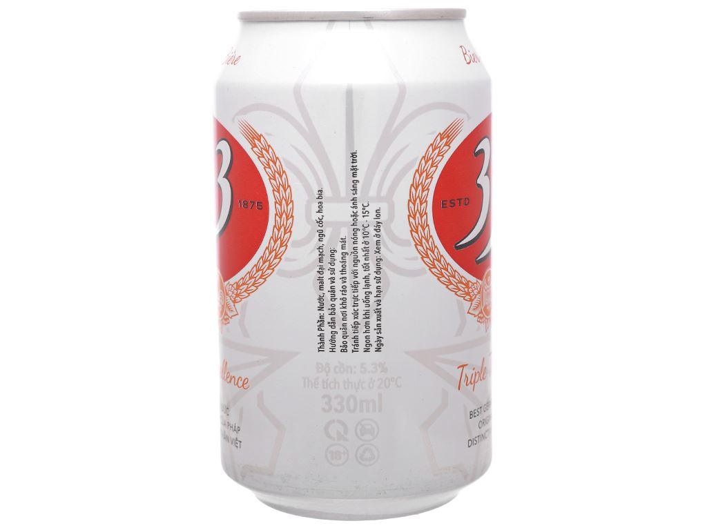 Thùng 24 lon bia 333 330ml 4