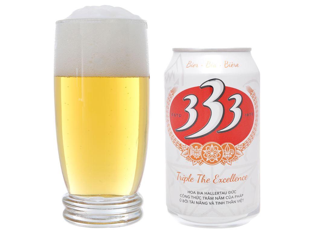 Thùng 24 lon bia 333 330ml 7