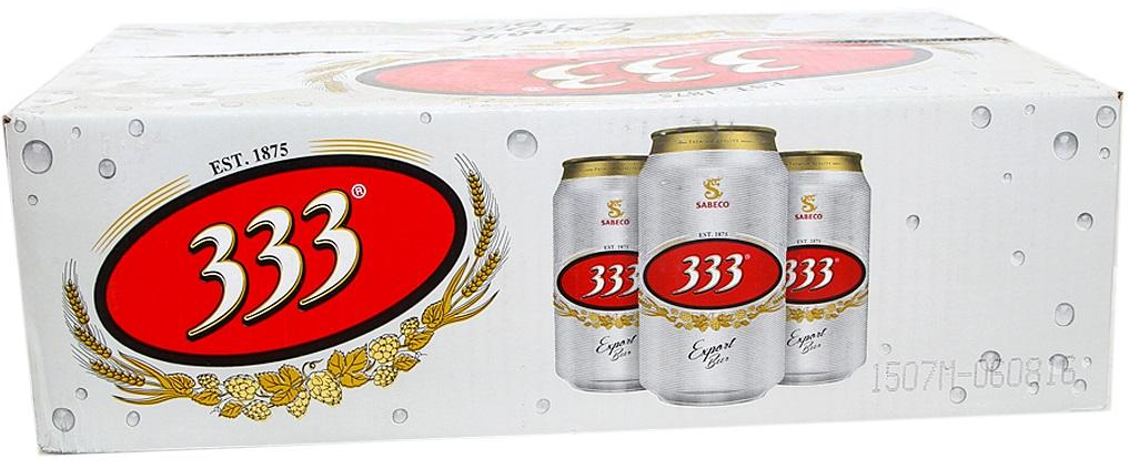 Bia 333 lon 330ml (thùng 24 lon)