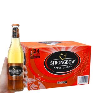 Thùng 24 chai Strongbow mật ong 330ml