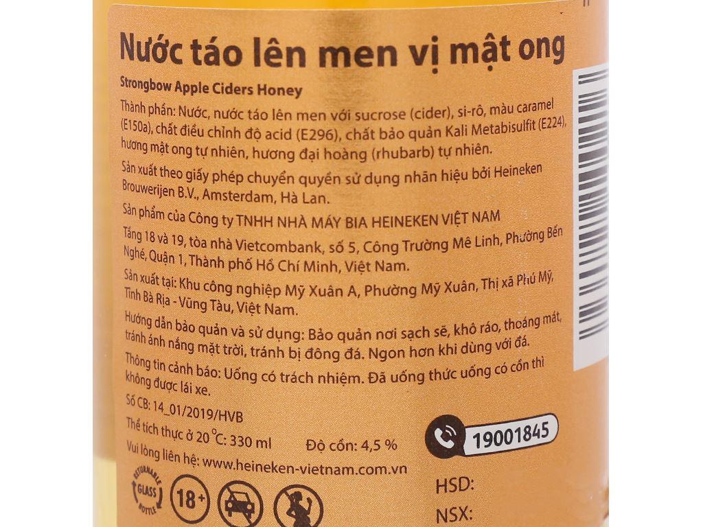Thùng 24 chai Strongbow mật ong 330ml 3