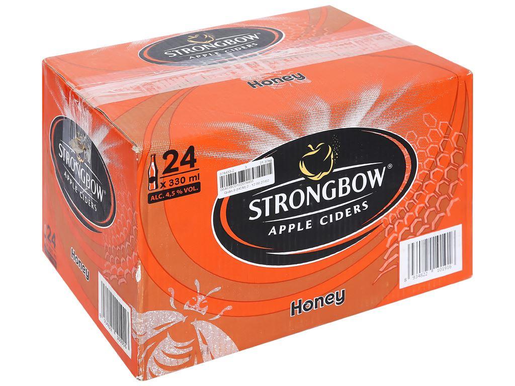 Thùng 24 chai Strongbow mật ong 330ml 1