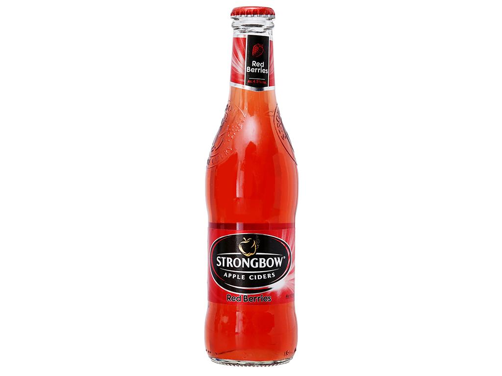 Thùng 24 chai Strongbow dâu 330ml 1
