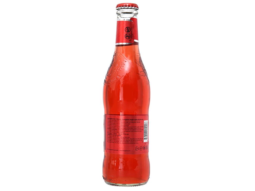 Thùng 24 chai Strongbow dâu 330ml 2
