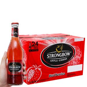 Thùng 24 chai Strongbow dâu 330ml