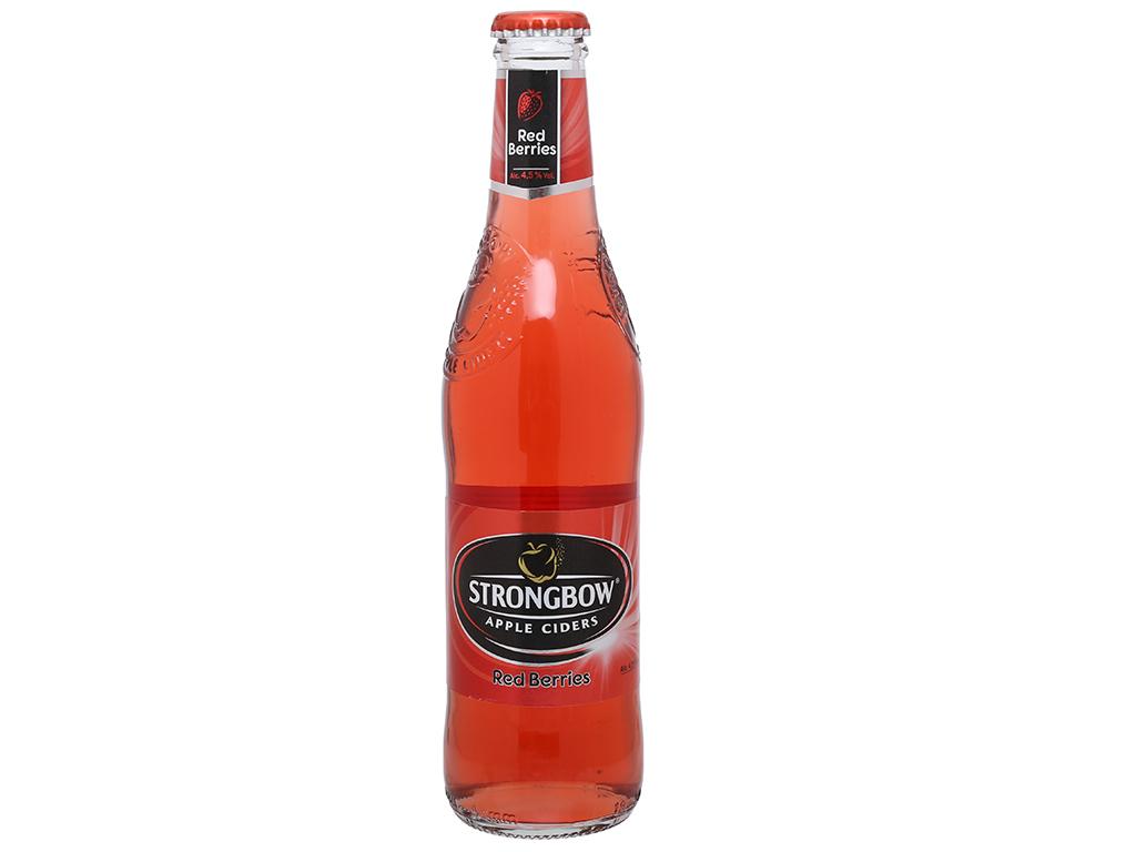 Thùng 24 chai Strongbow dâu 330ml 5