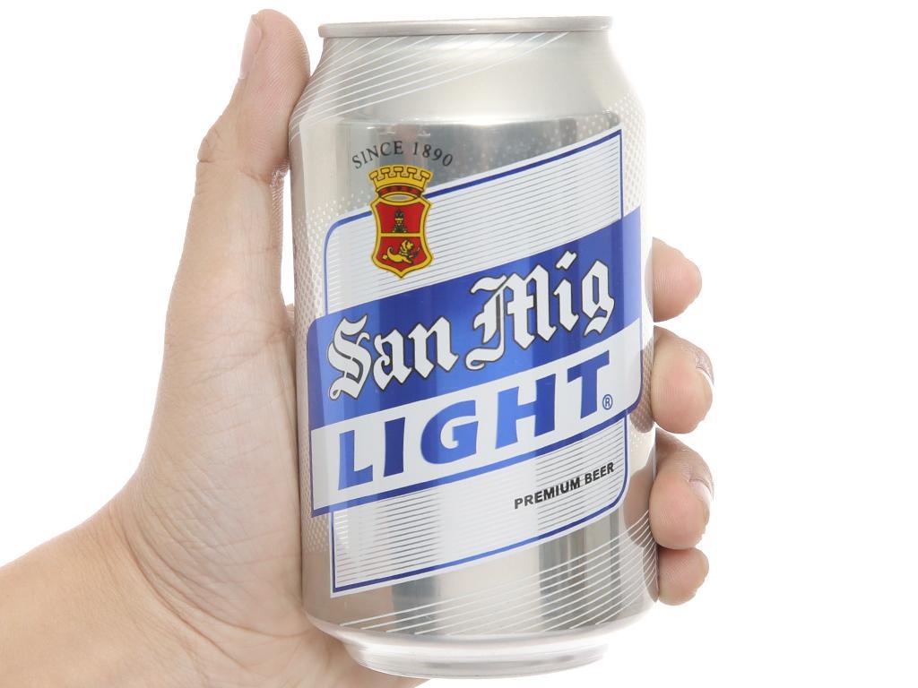 Thùng 24 lon bia San Mig Light 330ml 5