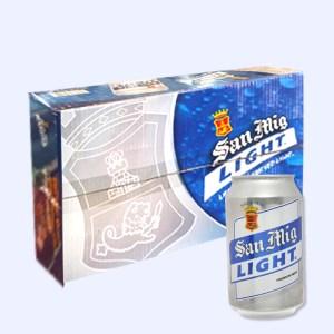 Thùng 24 lon bia San Mig Light 330ml