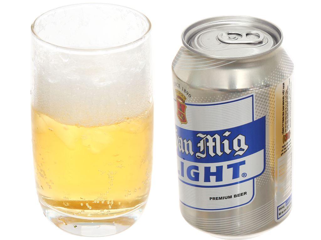 Thùng 24 lon bia San Mig Light 330ml 6