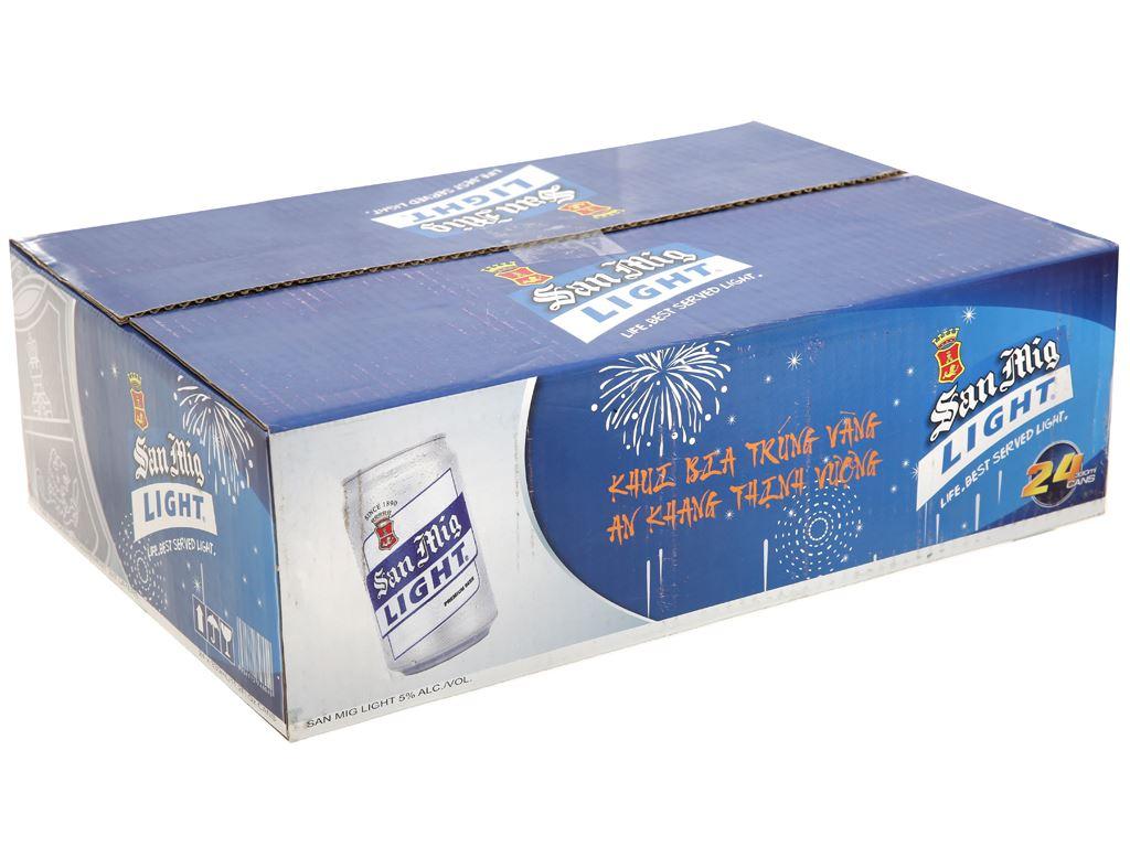Thùng 24 lon bia San Mig Light 330ml 1