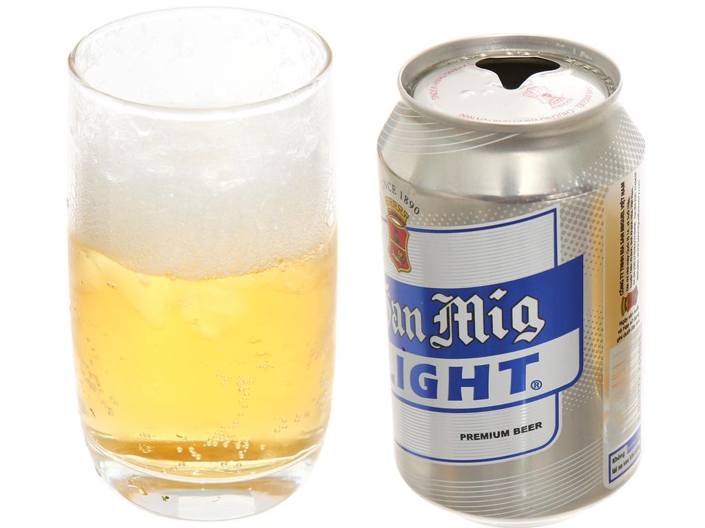 Thùng 24 lon bia San Mig Light 330ml 4