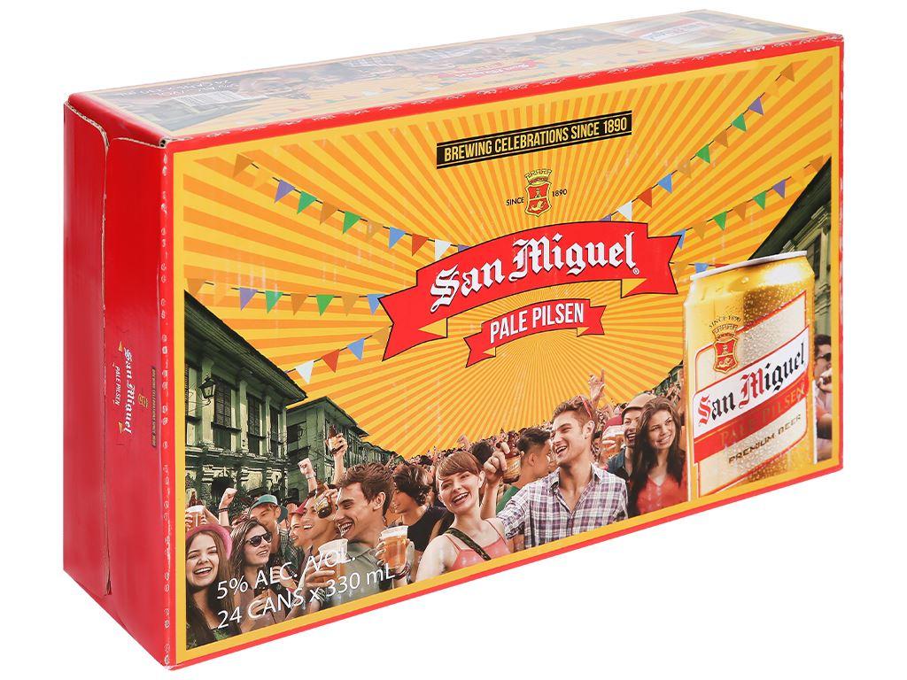 Thùng 24 lon bia San Miguel Pale Pilsen 330ml 1