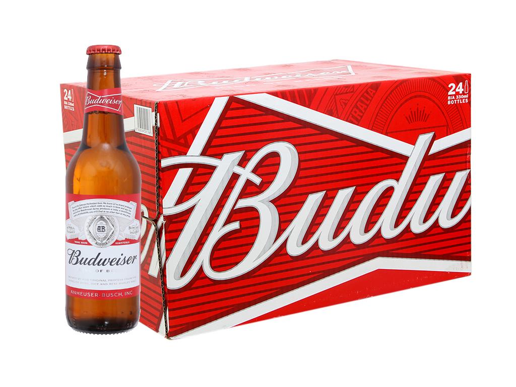 Thùng 24 chai Budweiser 330ml 1