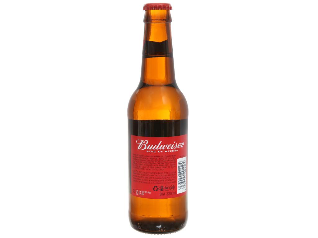 Thùng 24 chai Budweiser 330ml 6