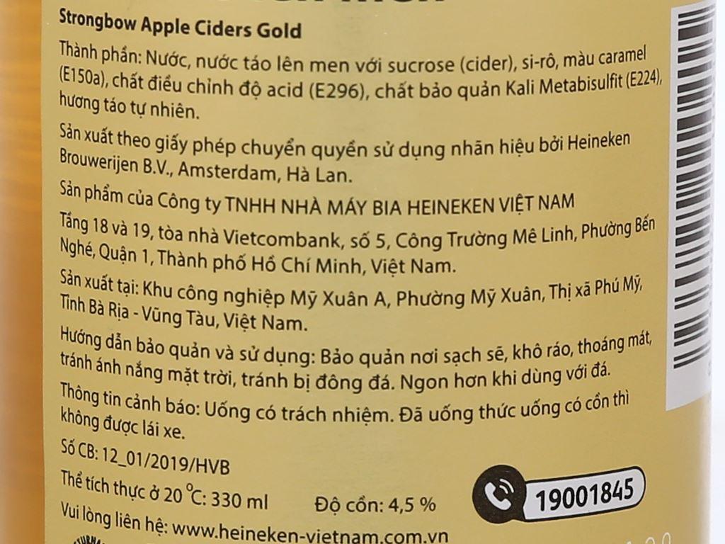 Strongbow táo chai 330ml 9