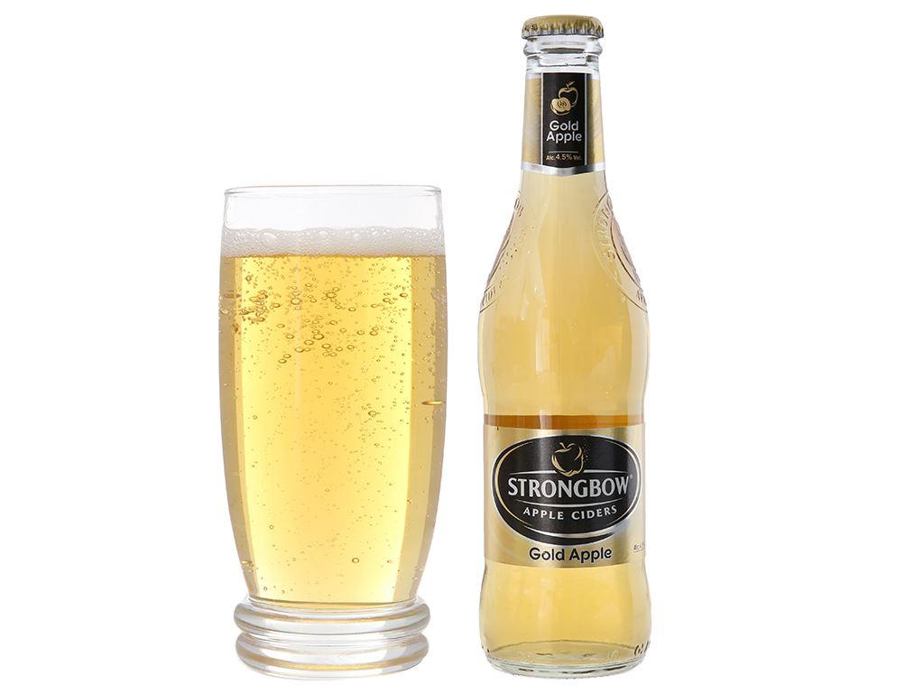 Thùng 24 chai Strongbow táo 330ml 10