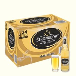Thùng 24 chai Strongbow táo 330ml
