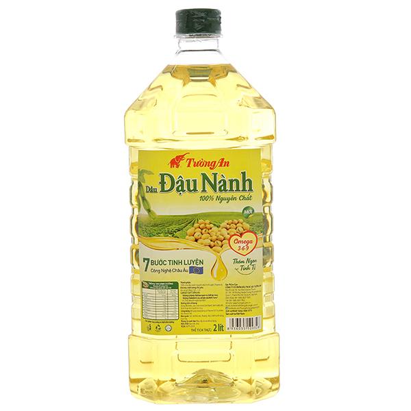 Dầu đậu nành Tường An nguyên chất 100% chai 2 lít 9
