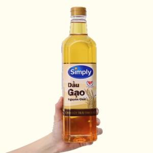 Dầu gạo nguyên chất Simply chai 1 lít