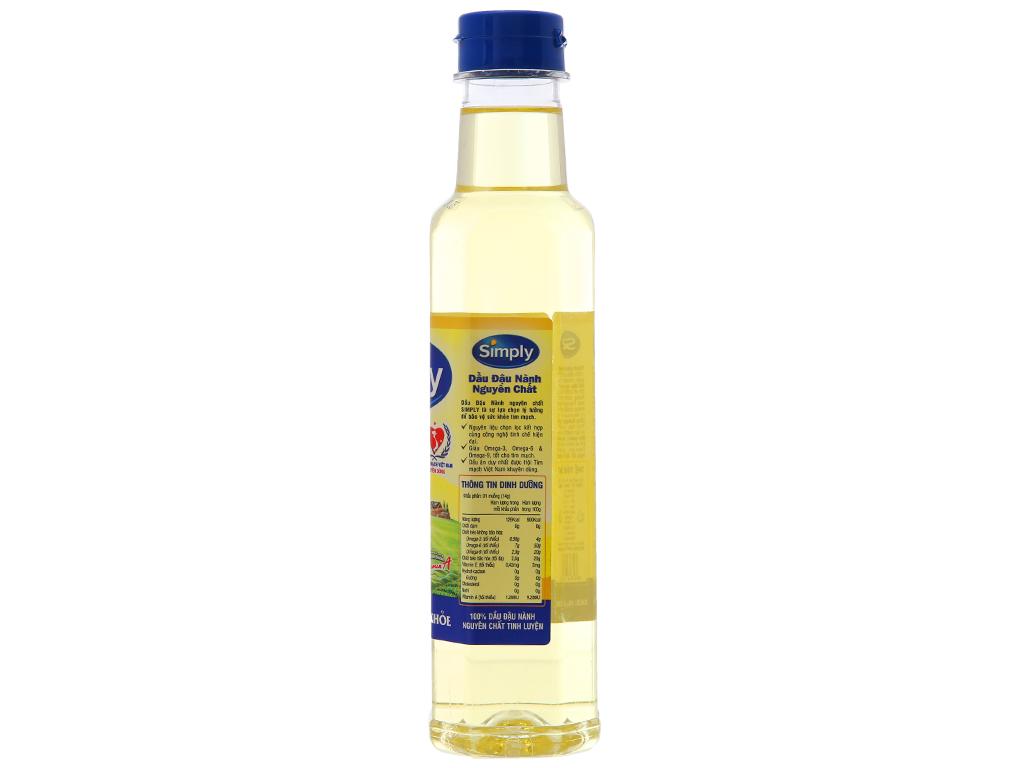 Dầu đậu nành nguyên chất Simply chai 400ml 5