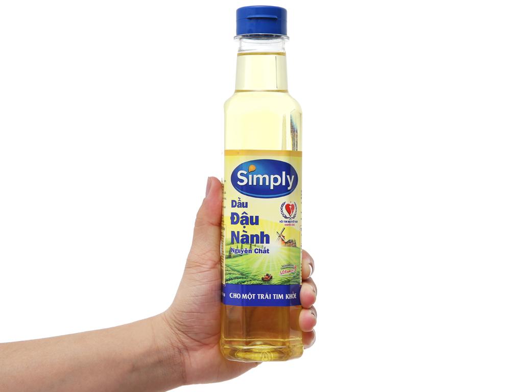 Dầu đậu nành nguyên chất Simply chai 400ml 3