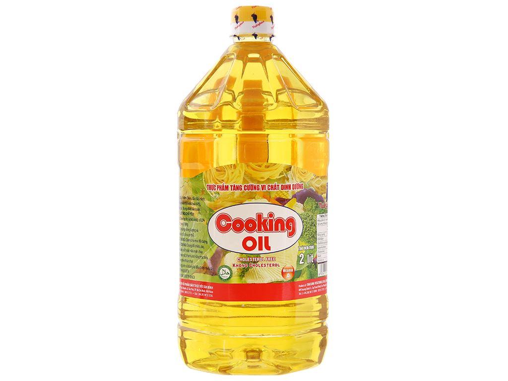Dầu thực vật Nakydaco Cooking oil chai 2 lít 1