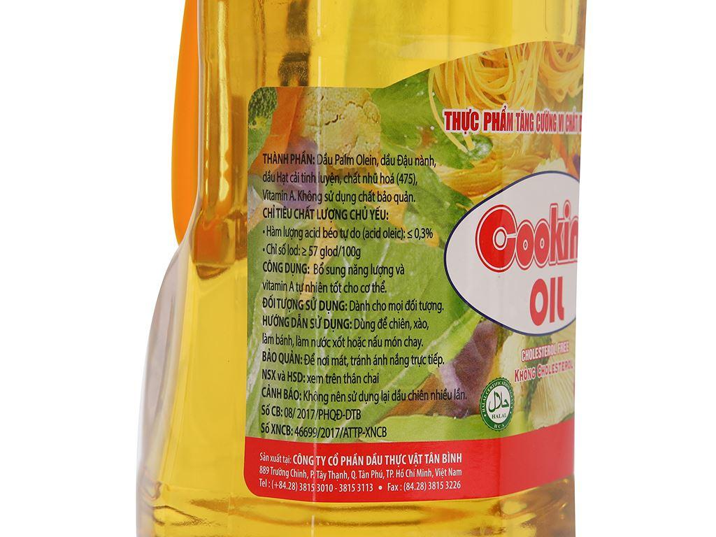 Dầu thực vật Nakydaco Cooking oil chai 2 lít 3