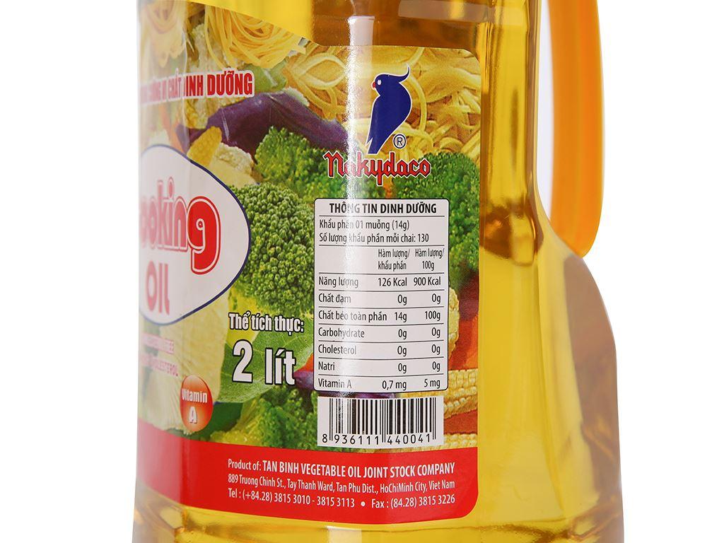 Dầu thực vật Nakydaco Cooking oil chai 2 lít 6
