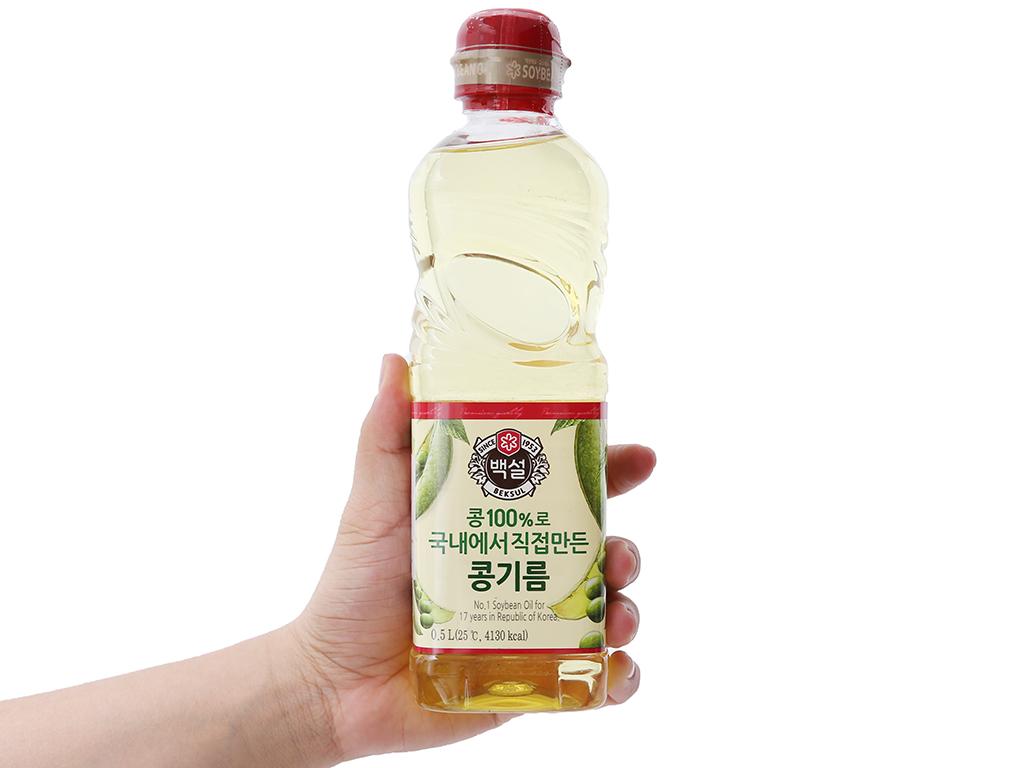 Dầu đậu nành Beksul chai 500ml 4