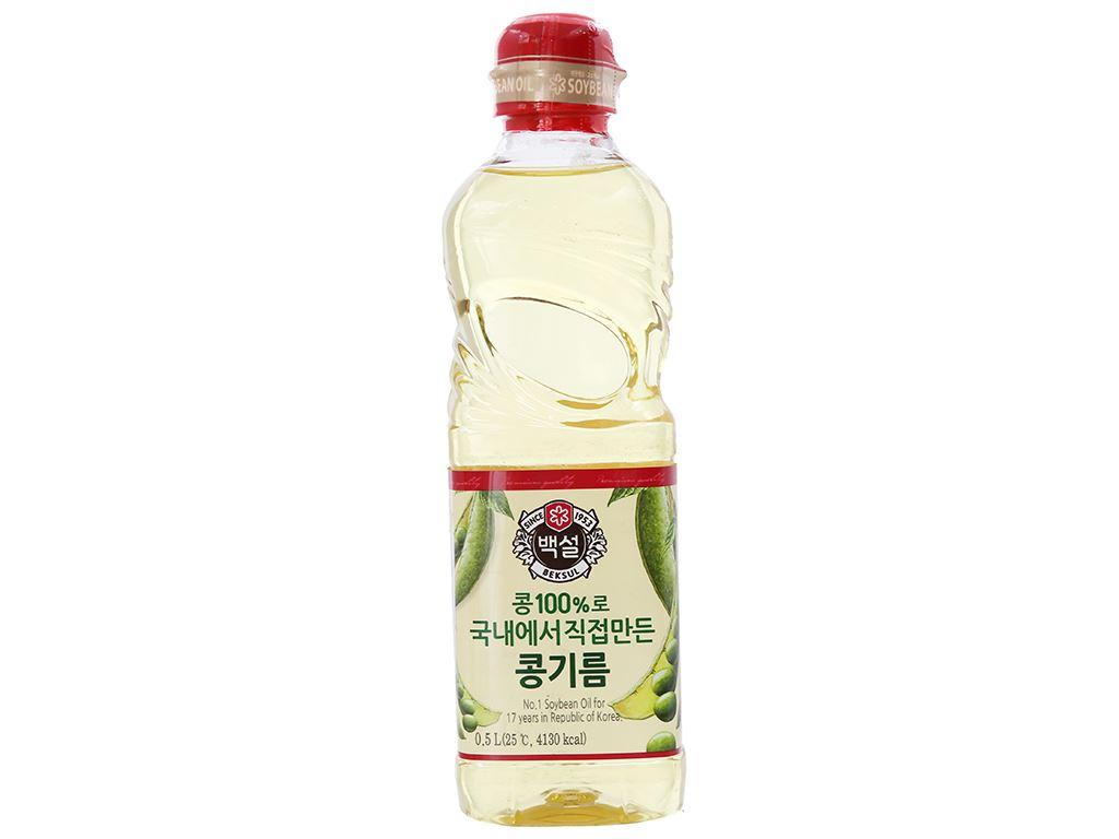 Dầu đậu nành Beksul chai 500ml 1