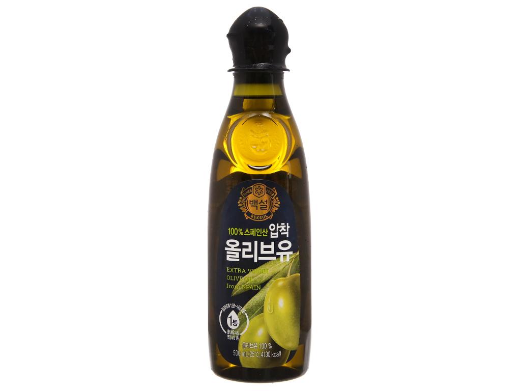 Dầu olive Beksul Extra Virgin chai 500ml 1