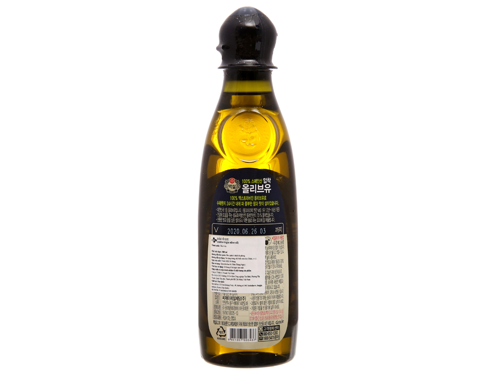 Dầu olive Beksul Extra Virgin chai 500ml 2