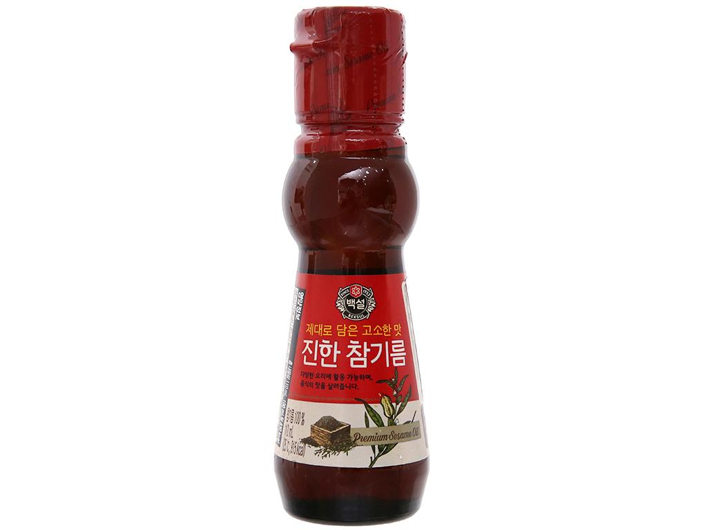 Dầu mè đậm đặc Beksul chai 110ml 1