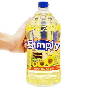 Dầu hướng dương Simply chai 2 lít