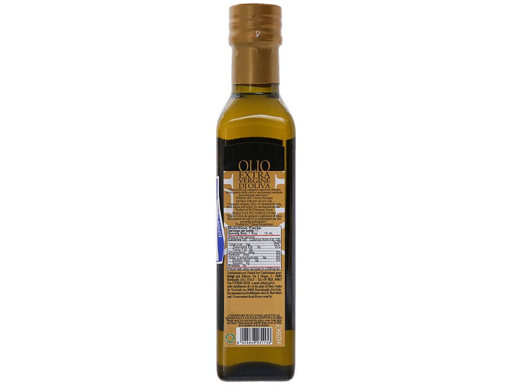 Dầu olive Castello Extra Virgin chai 250ml 2