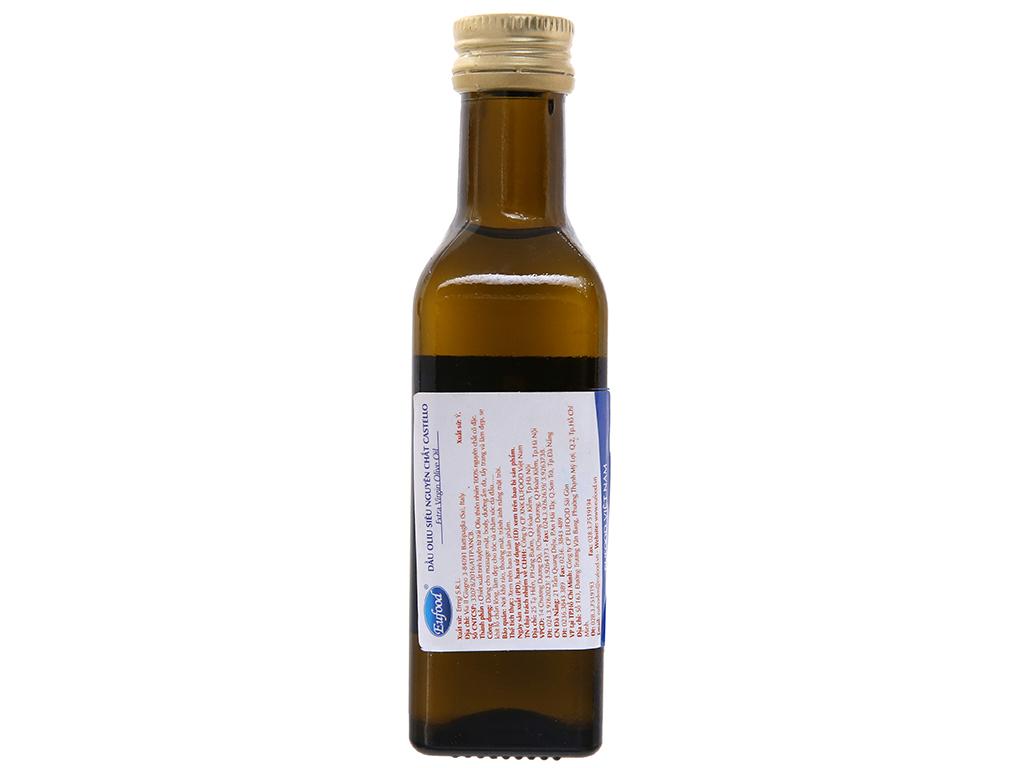 Dầu olive 100% nguyên chất cô đặc Castello Extra Virgin chai 100ml 2