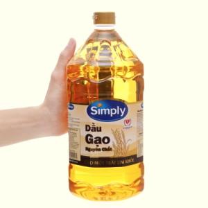 Dầu gạo nguyên chất Simply chai 2 lít