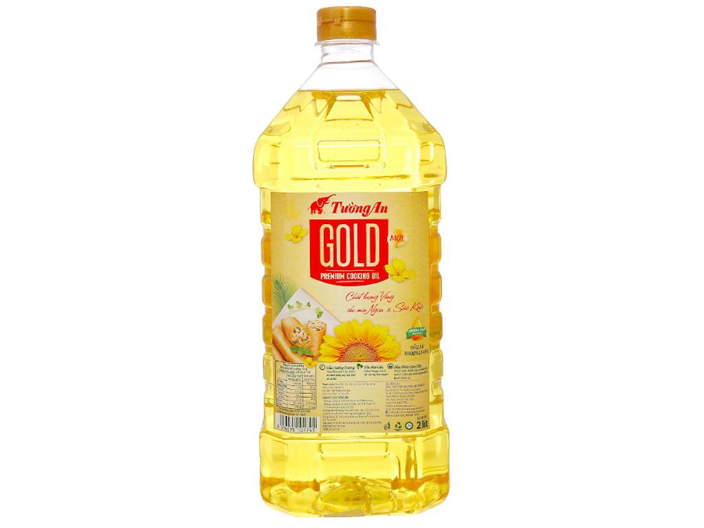 Dầu ăn cao cấp Tường An Gold chai 2 lít 1
