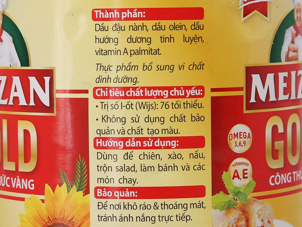 Dầu ăn cao cấp Meizan Gold chai 2 lít 2