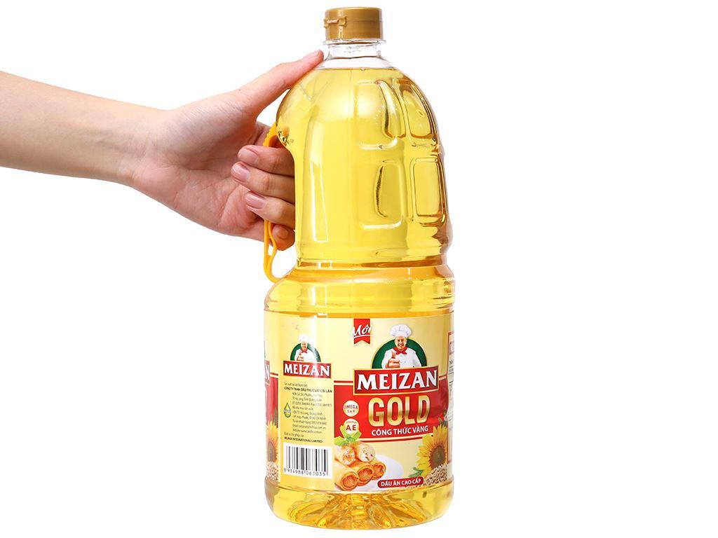 Dầu ăn cao cấp Meizan Gold chai 2 lít 3
