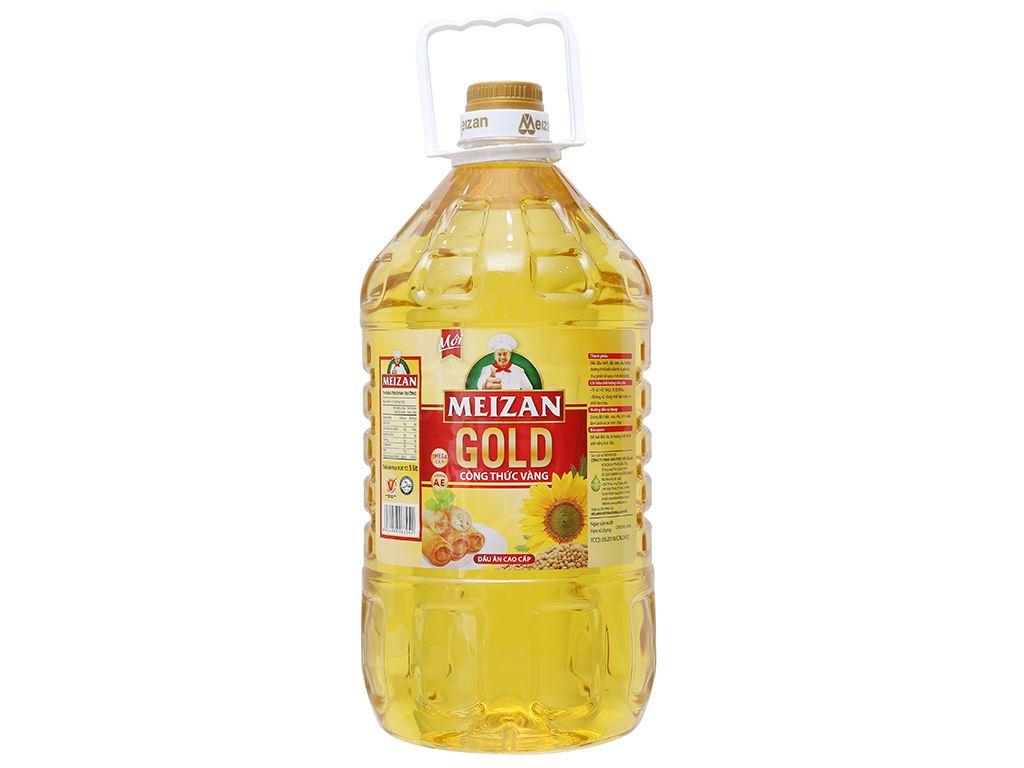Dầu ăn cao cấp Meizan Gold chai 5 lít 1