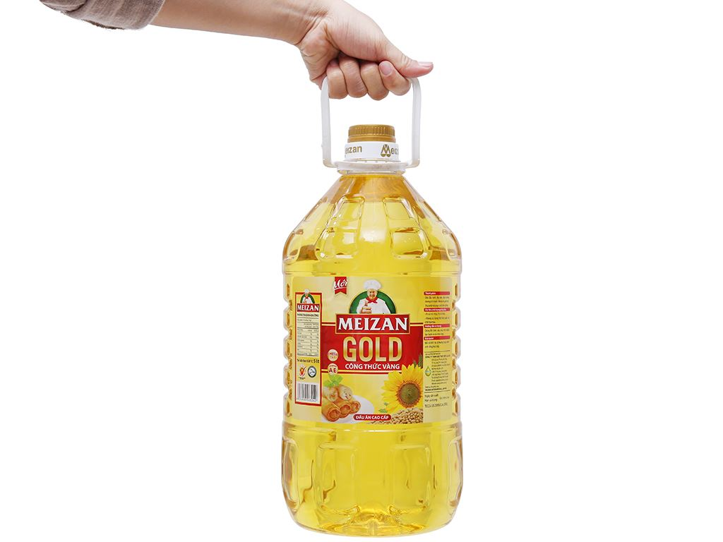 Dầu ăn cao cấp Meizan Gold chai 5 lít 3