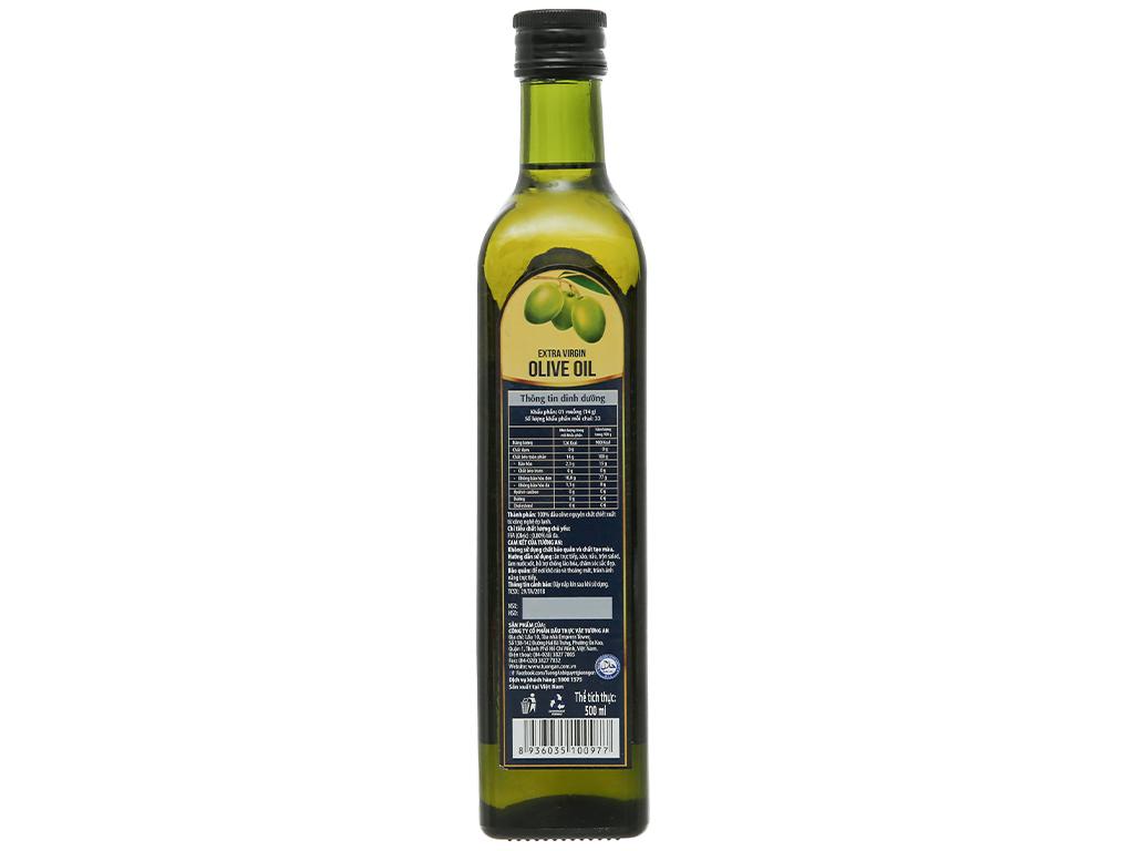Dầu olive Extra Virgin Tường An chai 500ml 6