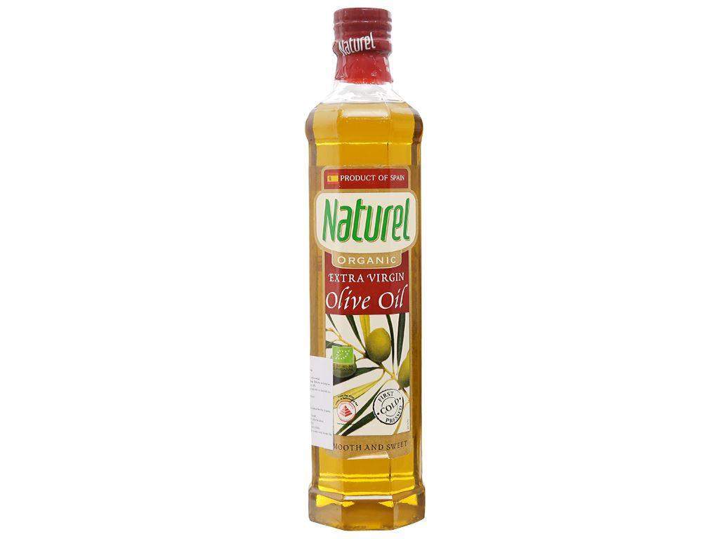 Dầu olive Organic Extra Virgin Naturel chai 1 lít 1