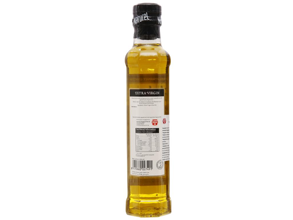 Dầu olive Extra Virgin Naturel chai 250ml 2