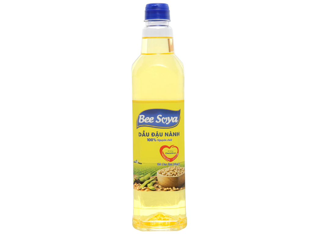 Dầu đậu nành Bee Soya Nakydaco chai 1 lít 1