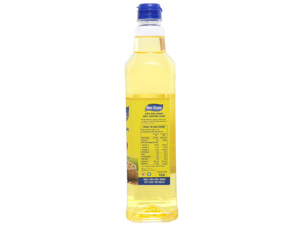 Dầu đậu nành Bee Soya Nakydaco chai 1 lít 2